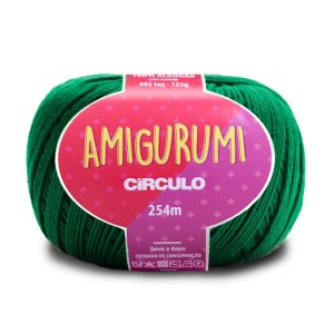 Linha Amigurumi Circulo 254m Cor Verde Bandeira 5767