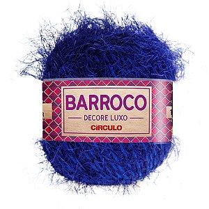 Barbante Barroco Decore Luxo Circulo 280g Cor Azul Bic 200