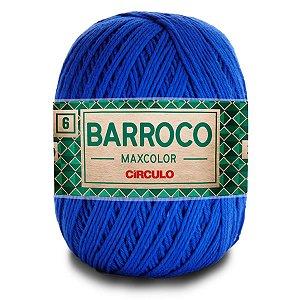 Barbante Barroco Maxcolor 400g Circulo N6 Cor Azul Bic 2829