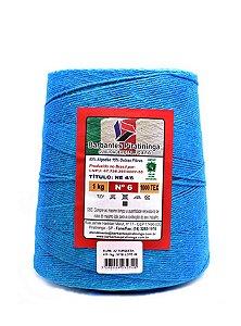 Barbante 1Kg Número 6 Azul Turquesa