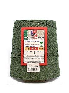Barbante 1Kg Número 6 Verde Musgo