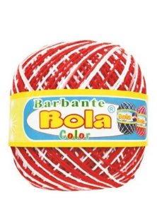 Barbante 350m Bola Color Coral/Branco