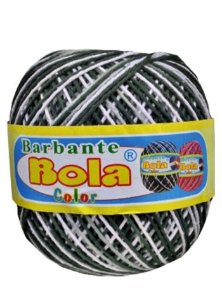 Barbante 350m Bola Color Verde Militar/Branco