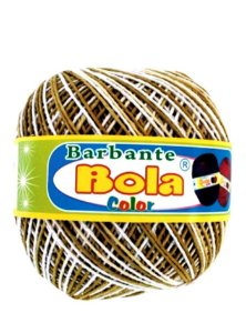 Barbante 350m Bola Color Mostarda/Branco