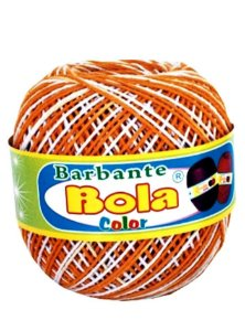 Barbante 350m Bola Color Amarelão/Branco