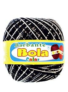 Barbante 350m Bola Color Preto/Cinza
