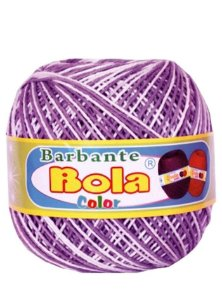 Barbante 350m Bola Color Lilás/Branco