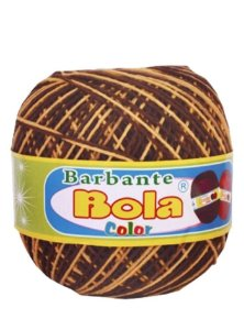 Barbante 350m Bola Color Marrom/Amarelo