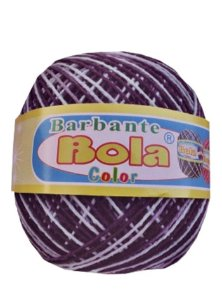 Barbante 350m Bola Color Roxo/Branco