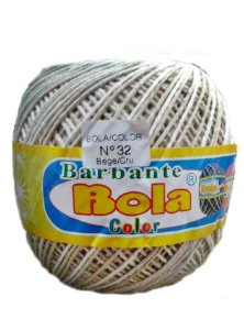 Barbante 350m Bola Color Bege/Cru