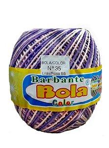 Barbante 350m Bola Color Lilás/Rosa Bebê