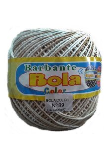 Barbante 350m Bola Color Caramelo/Cru