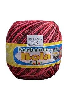 Barbante 350m Bola Color Bordô/Vermelho