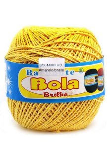 Barbante 350m Bola Color Brilho Amarelo/Prata
