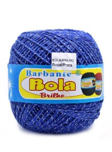 Barbante 350m Bola Color Brilho Royal/Prata