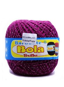 Barbante 350m Bola Color Brilho Vinho/Prata