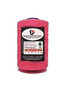 Barbante 2Kg Número 8 Rosa Fluorescente