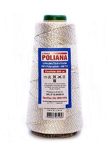 Linha Poliana Brilho 500m - Branco/Dourado