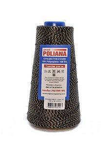 Linha Poliana Brilho 500m - Preto/Dourado