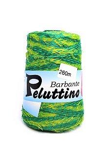 Barbante Felpudo Peluttino Mesclado Numero 6 Verde Bandeira/Verde Abacate