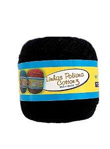 Linha Poliana Cotton 350m - Preto