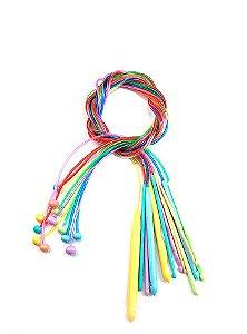 Kit Agulha de Plástico para Crochê Tunisiano 12 unidades