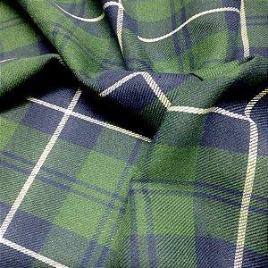 Flanela Xadrez Verde 1,50x1,00m