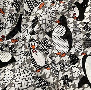Tecido Tricoline Pinguin 100% Algodão 1,40x1,00m