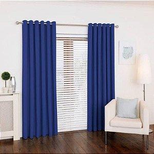 Cortina de Oxford 1,50x1,80m Azul Royal