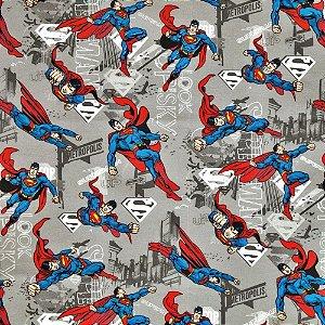 Tecido Super Homem 1,40x1,00m Infantil Impermeabilizado