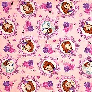 Tecido Princesa Sofia 1,40x1,00m Infantil Impermeabilizado