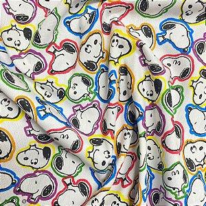 Tecido Tricoline Snoopy 1,40x1,00m Colorido