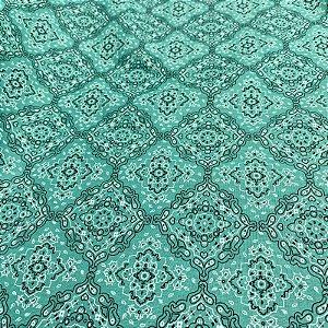 Tecido Tricoline Bandana Verde Água 1,40x1,00m