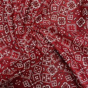 Tecido Tricoline Bandana Vermelha 1,40x1,00m