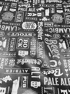 Toalha de mesa Plástica Térmica Beer 1,40x1,00 Cozinha Decoração