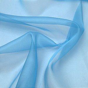 Tecido Voil Liso Azul Bebê 3,00x1,00m