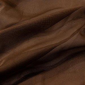 Tecido Voil Liso Marrom 3,00x1,00m