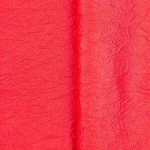 Cetim Amassado Vermelho- Largura 2,70mts