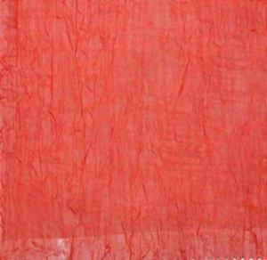 Voil Amassado Vermelho- Largura 2,70mts