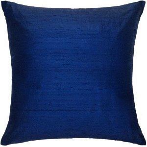 Almofada Seda Pura Azul