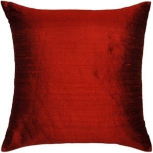 Almofada Seda Pura Vermelha