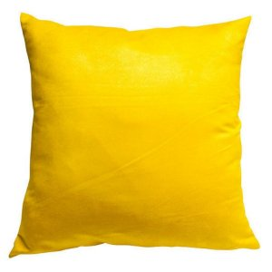 Almofada Suede Lisa Amarelo