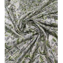 Cetim Estampado Dólar