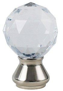 Ponteira Galax Cristal Base Cromada-28mm