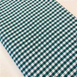 Tecido Xadrez Poliéster Verde 1,40x1,00m
