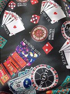 Cetim Estampado Poker