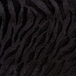 Veludo 3D Pele Preto