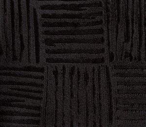 Veludo 3D Quadriculado Preto