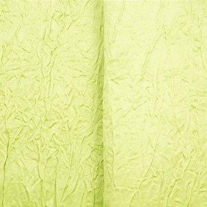 Cetim Amassado Verde Limão -Largura 2,70mts