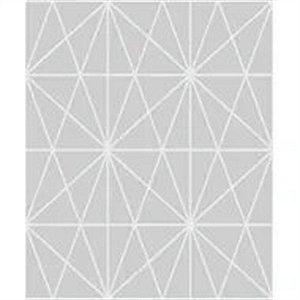 Papel De Parede Vinílico Cubic - Cinza - CU87433